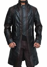 New Mens Avengers Age of Ultron Hawkeye Brown Leather Trench Coat