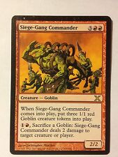 Siege-Gang Commander  10th  VO   -  MTG Magic (EX)