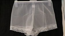Vintage Style White Sheer See Through French Knickers One Size Fits 8 10 12 14