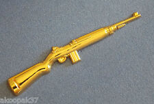 M1 CARBINE .30CAL RIFLE GOLD PLATED 60MM LONG WITH TWO PINS
