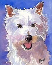 West Highland White Terrier Art Print Signed by Artist Ron Krajewski 8x10 Westie