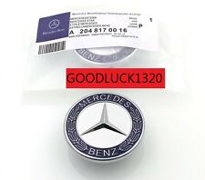 NEW MERCEDES BENZ SPORT BONNET BADGE - 57MM C E S CLK AMG CLASS EMBLEM