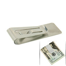USEFUL STAINLESS STEEL SILVER SLIM POCKET MONEY CLIP HOLDER
