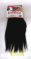 """The Sally Collection 8""""-100% Human Weave Extension Silky straight Color 1 jet BK"""