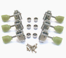 WJ-44-3N Wilkinson 3x3 Nickel Vintage Tuners for Les Paul SG Gibson/Epiphone