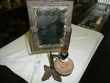 VINTAGE RARE CIVIL WAR BEVELED GLASS IRON  SHAVING KIT --EX ADDISON COLLECTION