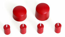 CHERRY RED Colored Radio Knobs Kit CD / CS New Set for GMC & Chevy Car and Truck