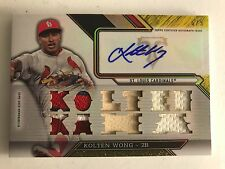 2016 Topps Triple Threads Baseball Kolten Wong auto jersey patch bat #ed 6/9