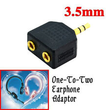 3.5mm To Double Out Earphone Headphone Y Audio Splitter Adapter Jack Plug NEW