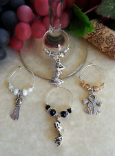 Set of 4 Wine Glass Charms ~ MARILYN The Ultimate Pin-up Girl ~ Great Gift Idea