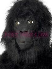 NEW LATEX HAIRY GORILLA MASK TV FILM FANCY DRESS ANIMAL FUN NATURE MENS WOMENS