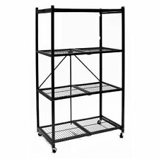 Origami 4 Tier Rolling STORAGE RACK, General Purpose Large Steel STORAGE SHELVES