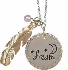 """Nature's Grace DREAM Feather Pendant Necklace on 18"""" Chain, by AngelStar 16164"""