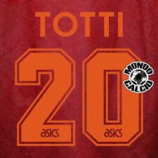 TOTTI 20# PERSONALIZZAZIONE ROMA HOME KIT NAME NOME NUMERO SET 1995-1996