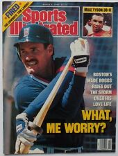 WADE BOGGS March 6, 1989 Sports Illustrated Magazine - NO LABEL