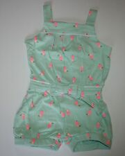 New Gymboree Island Cruise Neon Toucan Romper size 4T NWT Bird Print Mint Outfit