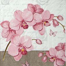 4 tableau unique fête serviettes en papier pour découpage decopatch craft orchidées & love