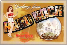 "Hard Rock Cafe ORLANDO 2014 MAGNET ""Greetings From"" POST CARD City Icons New"