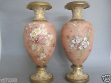 EXQUISITE 19TH CENTURY DOULTON BURSLEM HAND PAINTED PAIR OF VASES SIGNED