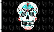 Sugar Skull Flag 3x5 ft Mexican Day of the Dead Mexico Halloween Colorful - NEW