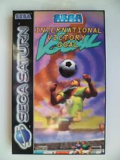 SEGA SATURN PAL GAME International Victory Goal Very Good Condition!