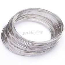 100loop Silver Plated Memory Steel Wire For Cuff Bangle Bracelet DIY 0.6x55mm