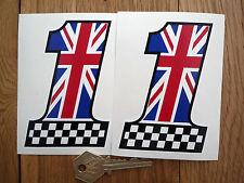 UK-No1 Schachbrettmuster Aufkleber Union Jack etc.Triumph Jaguar