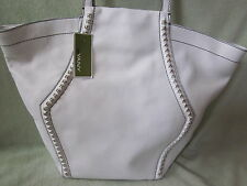 orYANY AX034 White Leather Gold Tone Studs Shoulder Tote BAG NWT Cute Tote $385