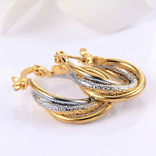 Distortion Leverback Hoop Earrings Fashion Jewelry Womens Classic
