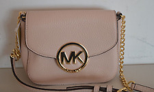 NWT MICHAEL KORS FULTON SMALL CROSSBODY BAG BALLET PINK LEATHER PURSE SHOULDER