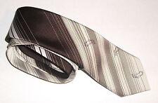 Homme cravate carnaval de paris 100% soie beige & marron excellent état cravatte