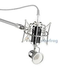 New Universal Pro Microphone Mic Shock Mount Holder Clip Studio Sound Recording