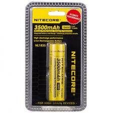 Nitecore NL1835 3500mAh 18650 -3.7V Rechargeable Lithium Ion Button Top Battery