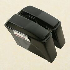 Hard Saddle bags With Speaker Lids For Harley Touring Road King Glide 94-13 Dyna