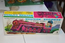 NICE TIN BATTERY OPERATED WESTERN EXPRESS TRAIN BOX only