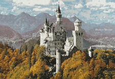 WALL TAPESTRY Neuschwanstein Castle in Fall - EUROPEAN DECOR - MEDIEVAL PICTURE