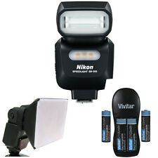 Nikon SB-500 AF Speedlight Flash 4814 For Nikon DSLR Camera + Diffuser + Ba
