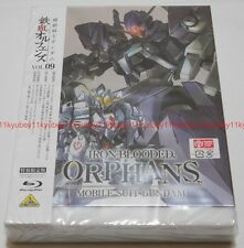 MOBILE SUIT GUNDAM IRON-BLOODED ORPHANS Vol.9 Limited Edition Blu-ray Book Japan