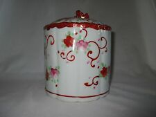 Chinese Exp Ceramic Famille Rose Cannister Cookie Jar Tea Caddy~Shabby Chic Vase