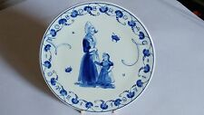 Royal Delft Handpainted Moederag Mother's Day Plate 1971 Holland Volendam DHI CP