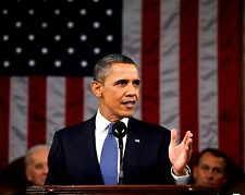 PRESIDENT BARACK OBAMA DELIVERS 2011 STATE OF THE UNION - 8X10 PHOTO (EE-021)
