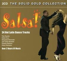 SALSA 34 Hot Latin Dance Tracks The Solid Gold Collection 2 CD SET
