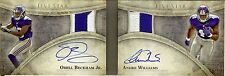 2014 FIVE STAR ODELL BECKHAM JR ANDRE WILLIAMS DUAL ROOKIE PATCH AUTO BOOK #D/10