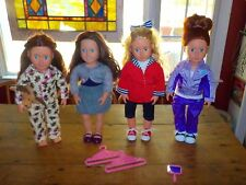 OUR GENERATION DOLL LOT-BATTAT 4 DOLLS