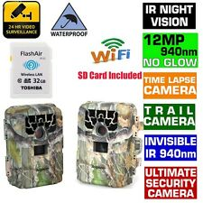 Trail Camera Outdoor Waterproof Security Cam Motion Activated IR+32GB Wifi SD