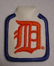 Vintage Detroit Tiger-Leather Embroidered-Key Chain Fob