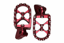 RED MX Motocross Footrests Foot Pegs YAMAHA YZ250 YZF250 YZF426 YZF450 99-15