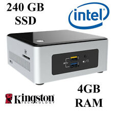Intel NUC Mini PC de escritorio/dual Core/4GB DDR3 Ram/240GB SSD/Windows 10