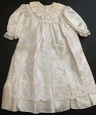 New No Name Ivory Cream Baby Christening Dress size 6 12 months