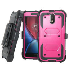 Rugged Shockproof Armor Hybrid Hard Case Kickstand Protective Cover Clip Holster